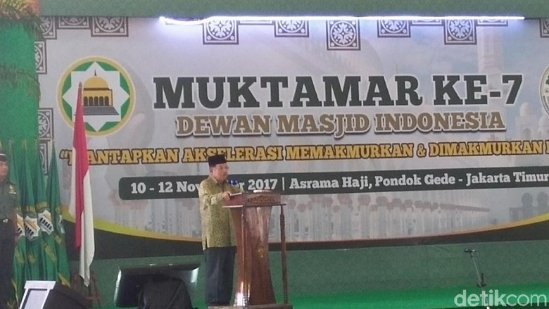Hadiri Muktamar VII DMI, JK Ingin Masjid Makmurkan Masyarakat