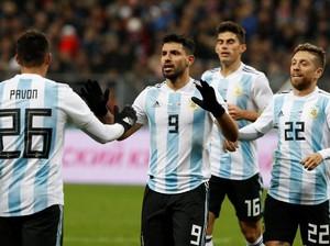 Gol Tunggal Aguero Menangkan Argentina