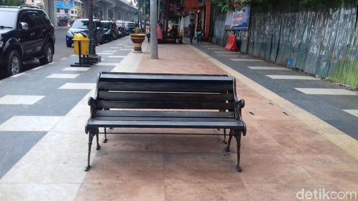 Area pedestrian di Jl Sudirman, Palembang. (Raja Adil/detikSport)