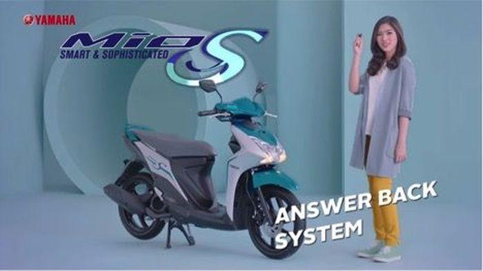 TVC Mio S menampilkan Isyana Sarasvati dan keunggulan-keunggulan Mio S (Foto: Yamaha)