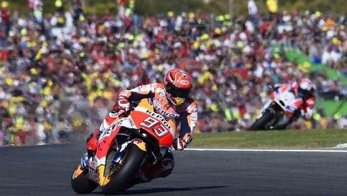 Marc Marquez jadi juara dunia MotoGP 2017 (JOSE JORDAN/AFP PHOTO)