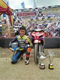 Rimonaq Franandus menjadi juara nasional MP2 Kalimantan (Foto: dok. Yamaha Indonesia)