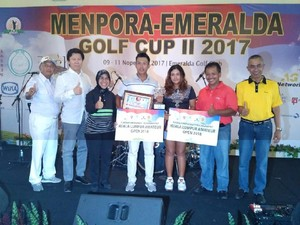 Ada Menpora-Emeralda Golf Cup II 2017, Ini Juaranya