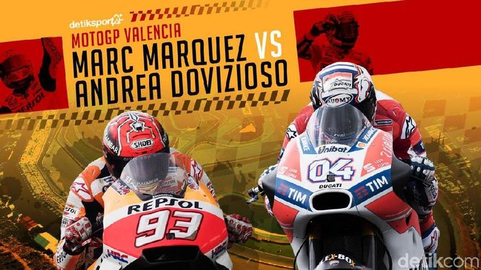 MotoGP Valencia, Final: Marquez vs Dovizioso