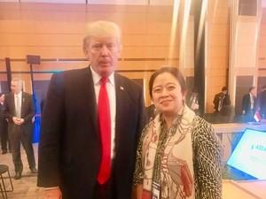 Saat Puan Foto Bareng Donald Trump di KTT ASEAN