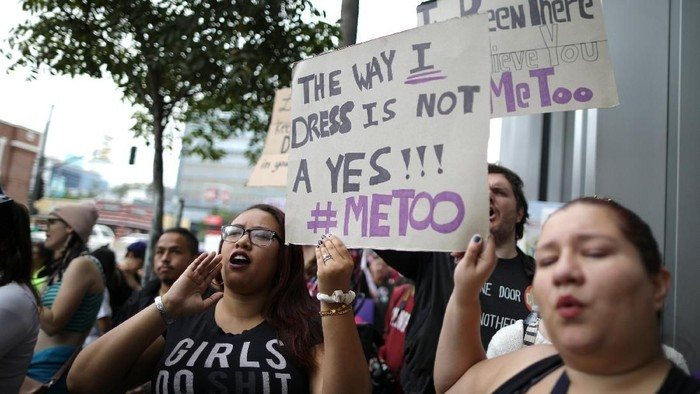 Kampanye anti pelecehan seksual (Foto: REUTERS)