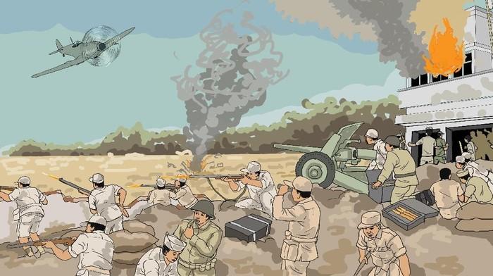 Ilustrasi Perang Surabaya 10 November 1945