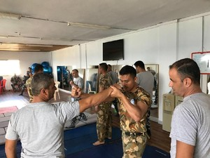 Satgas Peace Keeper POM TNI Beri Pelatihan Polisi Lebanon