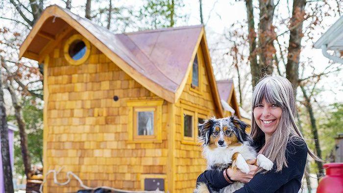 Bernadette, tinggal di rumah mungil berukuran 172 sq ft di Maryland.