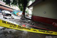 Lokasi penemuan mayat di Terminal Kampung Rambutan