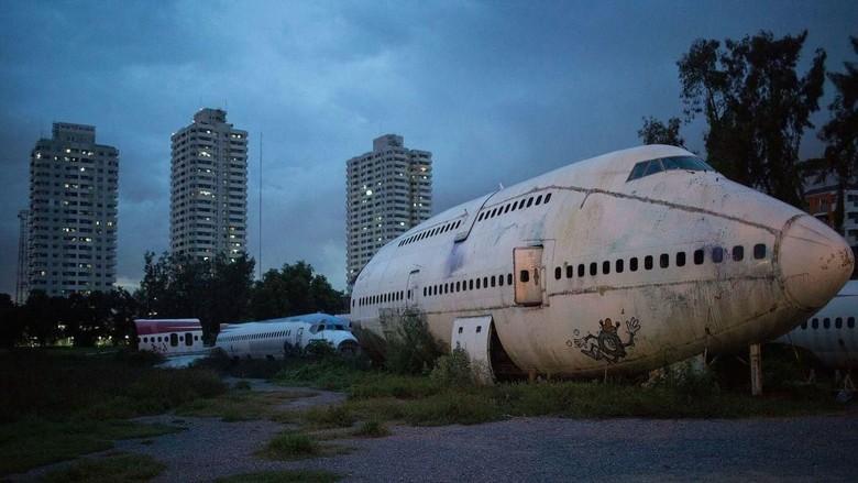 Foto: Kuburan pesawat di Bangkok, Thailand (Taylor Weidman/Getty Images AsiaPac/Getty Images/CNN)