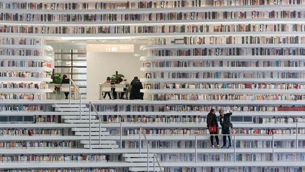 Ada 1,2 juta koleksi buku di sini (dok MVRDV)