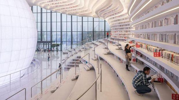 Perpustakaan ini memiliki desain yang keren (dok MVRDV)