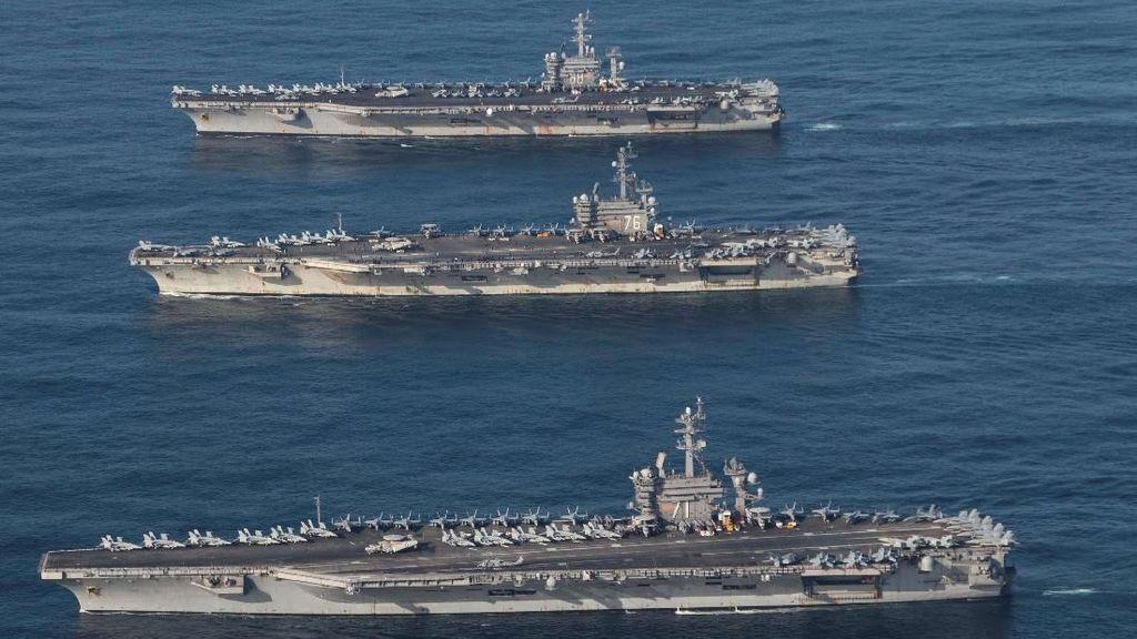 Sejumlah Kapal Induk AS Gelar Latihan di Laut China Selatan