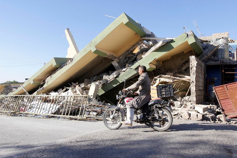Ilustrasi reruntuhan gempa. Foto: Dok. REUTERS/Ako Rasheed