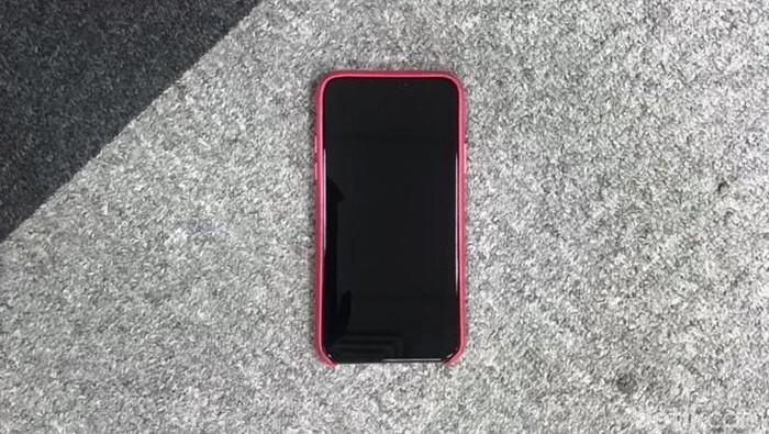 iPhone X milik Dewi yang mati total. Foto: Adi Fida Rahman/detikINET