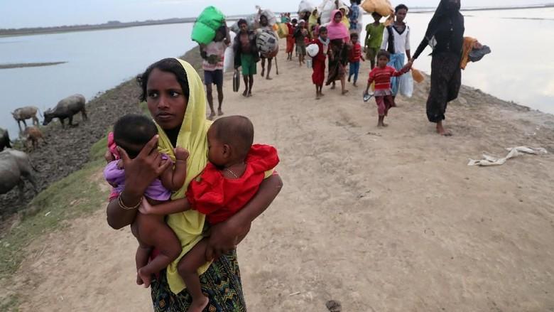 Pengungsi Rohingya Takut Pulang, Kamp Transit di Myanmar Kosong