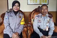 Brigadir Sinta dan Kapolsek Sumedang Selatan Kompol Dilam