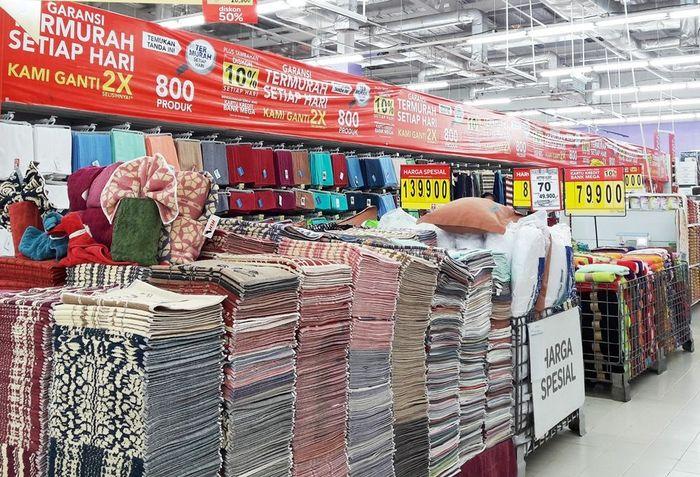 Foto: Perlengkapan Rumah Tekstil di Transmart Carrefour (Dok. Transmart Carrefour)