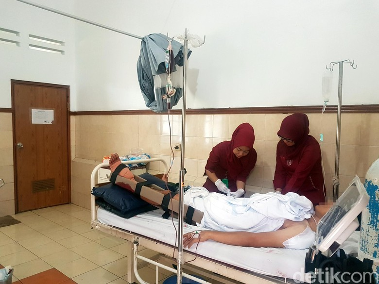 Kaki Pemuda Sukabumi Nyaris Putus Diserang Kelompok Bertopeng