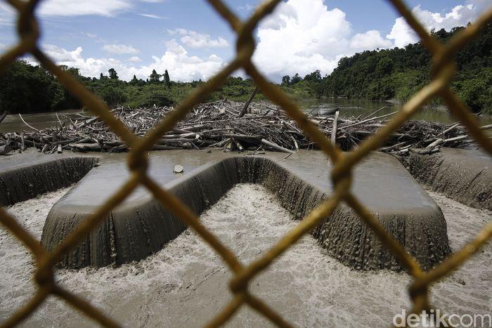 Begini penampakan terkini Bendung Tami yang berlokasi di Jayapura, Papua.