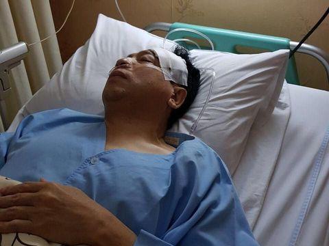 Foto Setya Novanto usai kecelakaan dan dibawa ke RS Medika Permata Hijau.
