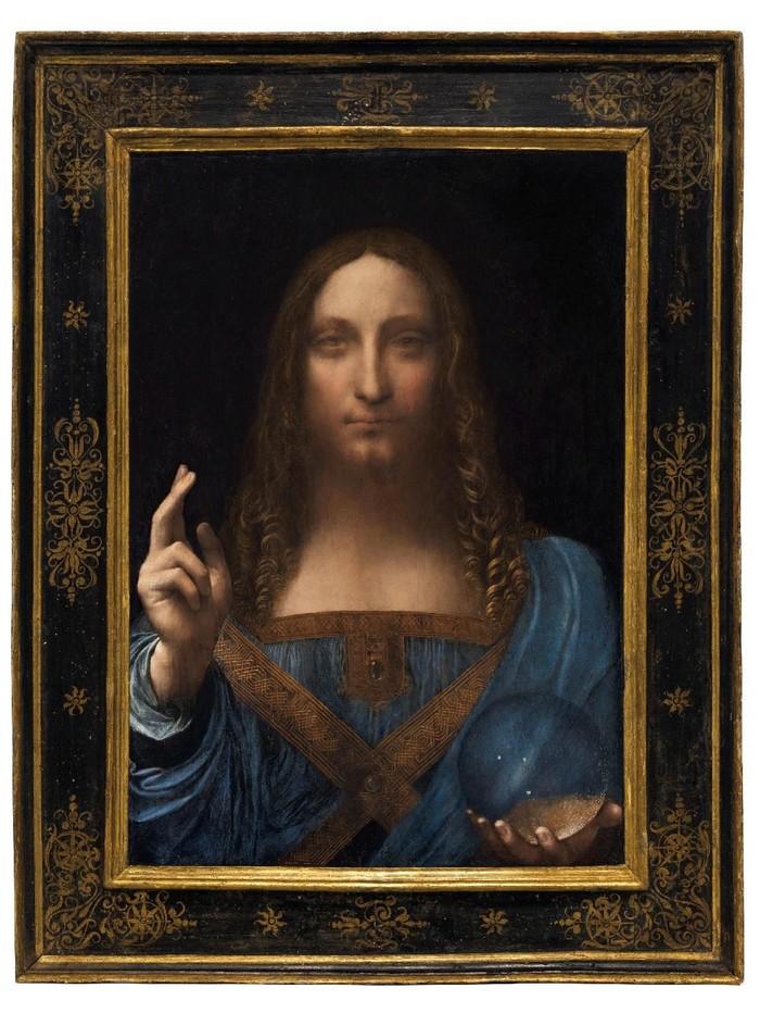 Lukisan Leonardo da Vinci bernama Salvator Mundi (Courtesy Christies New York/Handout via REUTERS/File Photo)