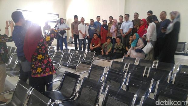 Suasana usai sidang vonis kasus penganiayaan Taruna Akpol di PN Semarang.