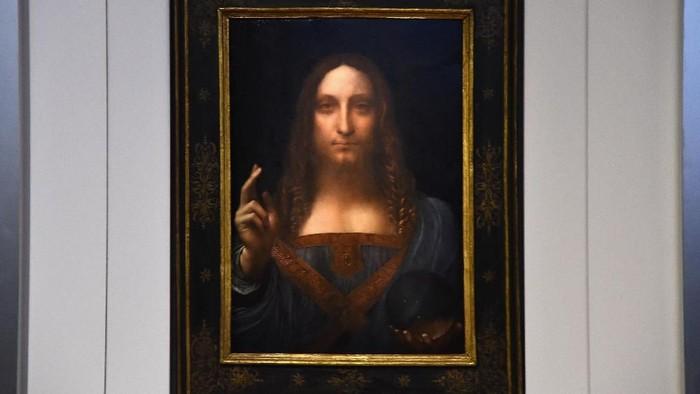Lukisan ini merupakan salah satu hasil karya da Vinci yang diduga memiliki mata juling. Foto: Getty Images