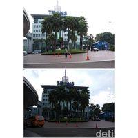 Foto kondisi siang hari sebelum dan setelah cahaya diatur