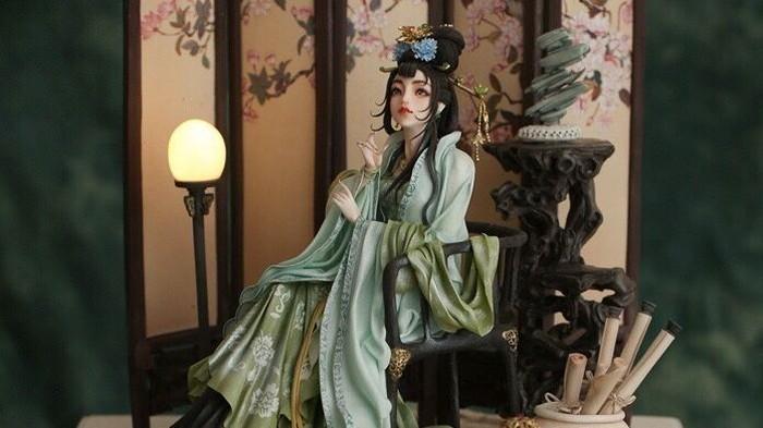 Inilah kreasi Zhou yang membuat dirinya membawa medali emas dari kompetisi International Cake di Inggris. Kreasinya dinamai Lady in the Palace. Foto: Istimewa