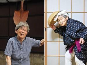 Bosan Lihat Meme Setnov? Ini Foto-foto Lucu Nenek 89 Tahun di Jepang