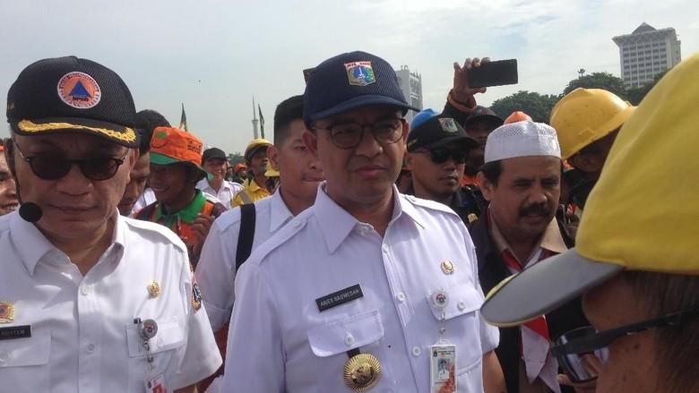 Pimpin Apel di Monas, Anies Ingatkan 3 Kata Kunci Siaga Bencana
