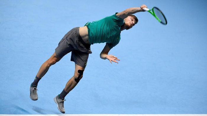 David Goffin akan menantang Roger Federer di semifinal ATP Finals (Tony OBrien/Action Images via Reuters)