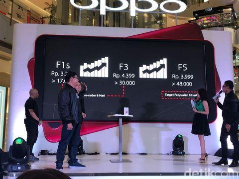 Penjualan perdana Oppo F5.