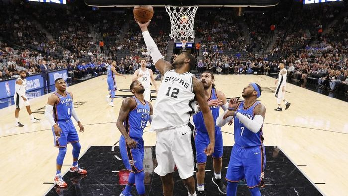 San Antonio Spurs kalahkan Oklahoma City Thunder (Soobum Im-USA TODAY Sports)