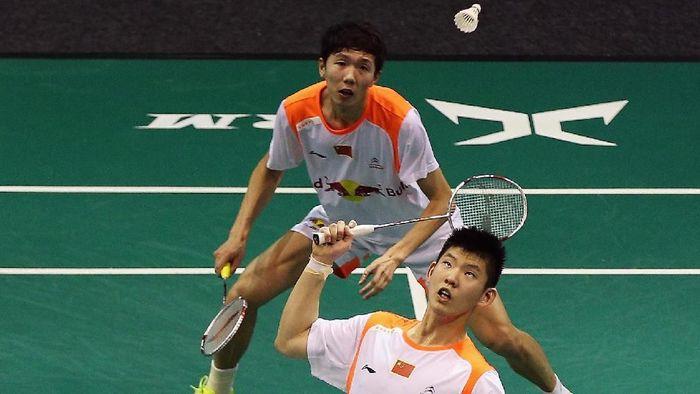 Li Junhui and Liu Yuchen dikalahkan Kevin Sanjaya Sukamuljo/Marcus Fernaldi Gideon (Hannah Peters/Getty Images)