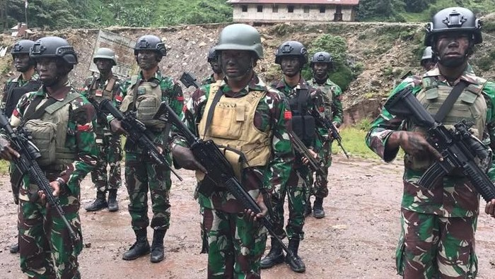 Para prajurit TNI yang terlibat membebaskan sandera KKB