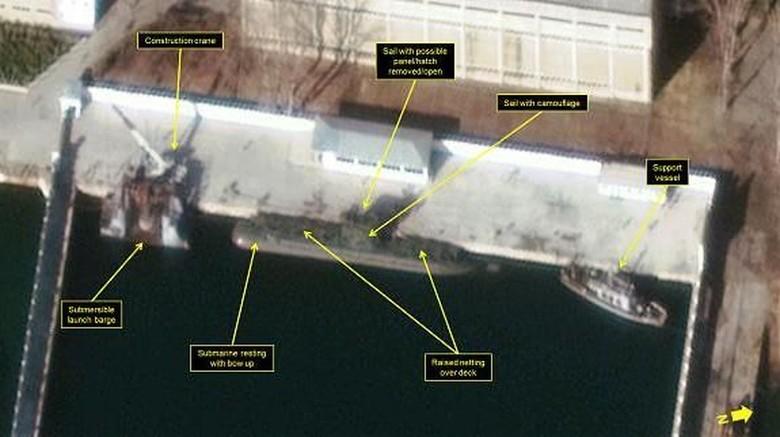 Ini Foto Pengintaian Aktivitas Korut Pasang Nuklir di Kapal Selam