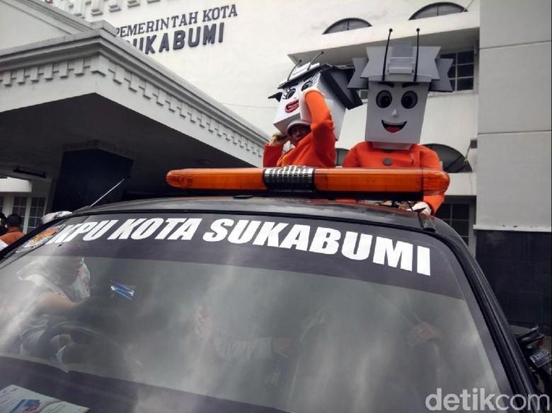 Pilkada 2018, KPU Kota Sukabumi Tampilkan Kang dan Neng Balkot