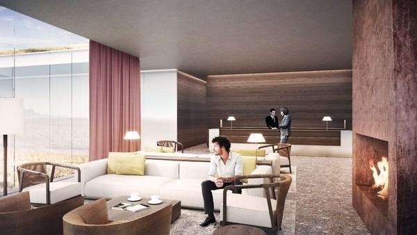 Seorang arsitek mengusulkan untuk membangun sebuah resor spa baru yang menakjubkan di utara Kota Reykjavik. Resor ini terinspirasi oleh dongeng yang melegenda di Islandia juga diharapkan dari proyek ini akan menarik lebih banyak traveler (Johannes Torpe Studios/CNN Travel)
