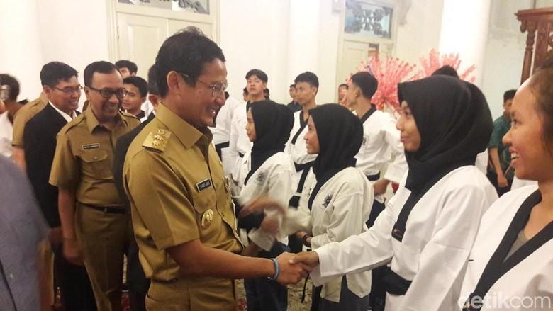 Lepas Kontingen Taekwondo, Sandi: Generasi Muda Harus Mental Juara