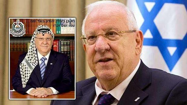 Foto Presiden Reuven Rivlin yang diedit