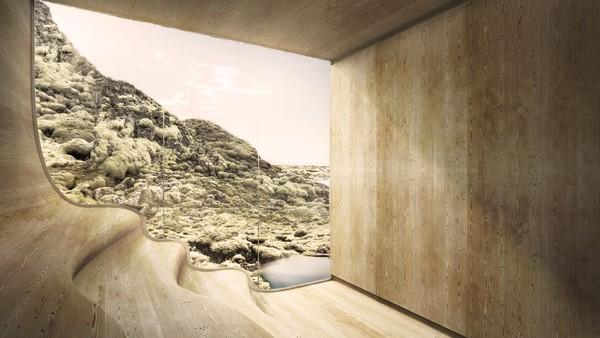 Rencananya, resor tersebut mencakup hotel dengan 150 kamar dan 20 bungalow. Akan ada pula pusat komplek kreatif bagi seniman yang tinggal di sana (Johannes Torpe Studios/CNN Travel)