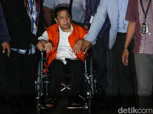 Setya Novanto, Ketum Parpol Keempat yang Dikurung KPK