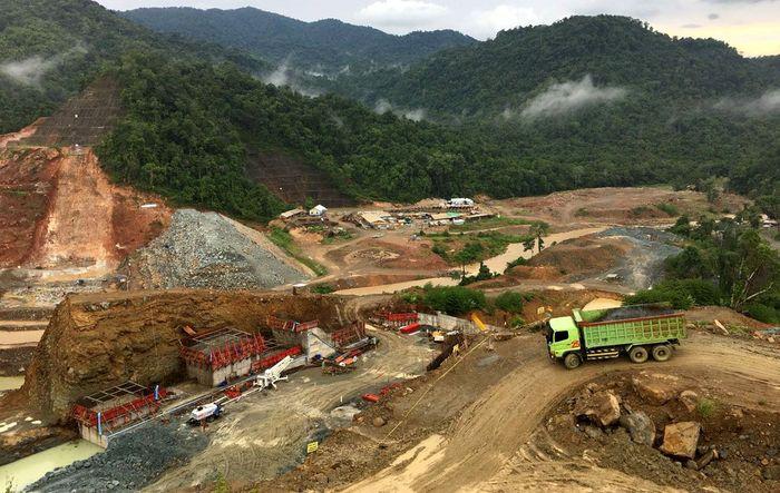 Progres konstruksi bendungan saat ini sudah 55,4%. Pool/PUPR.