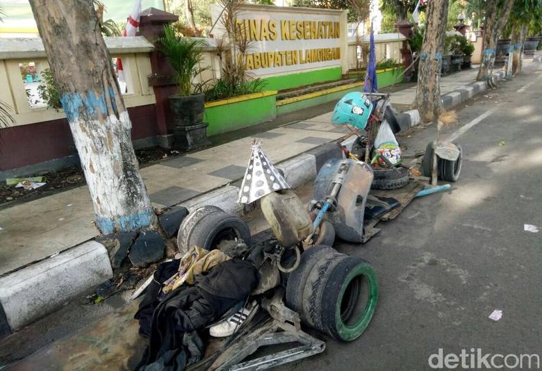 Vespa gembel yang diciduk polisi karena terlalu ekstrem. Foto: Eko Sudjarwo