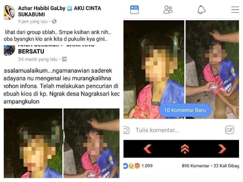 Viral Foto Bocah Berdarah di Sukabumi, Begini Faktanya