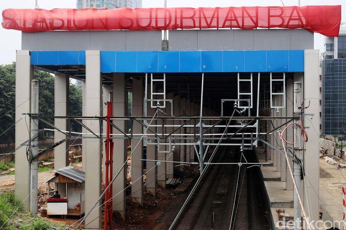 Begini penampakan terkini proyek pembangunan Stasiun Stasiun Sudirman Baru.