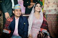 Kahiyang Ayu dan Bobby Nasution saat acara adat pemberian marga